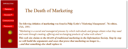 death of marketing
